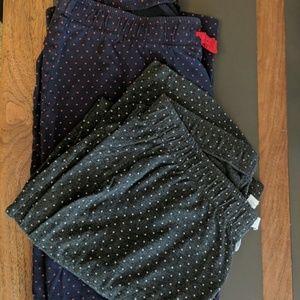 Women's Lot of 2 Gap Body PJ Pants Size Small